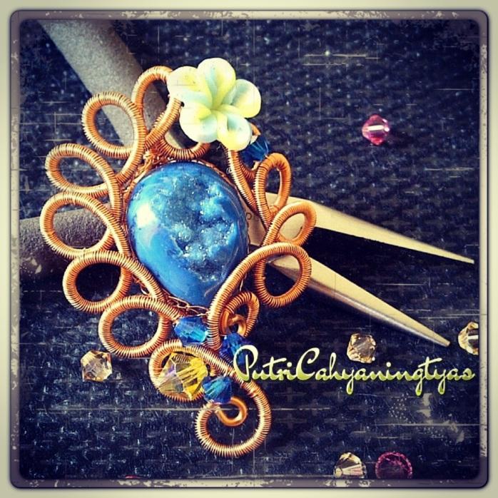 Simply Ocean Blue Brooch